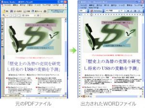 PDFからWORDへの変換例(1)