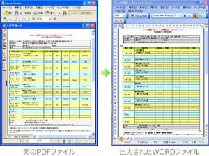 PDFからWORDへの変換例(2)